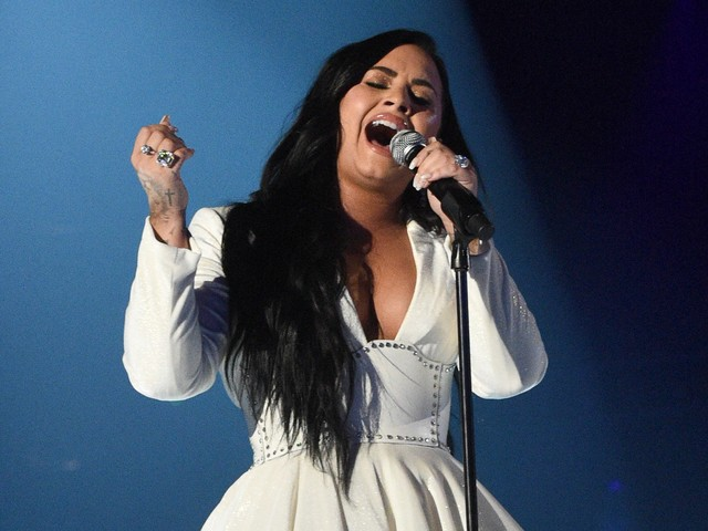 Demi Lovato Makes A Triumphant Return To The Stage Wearing Christian Siriano