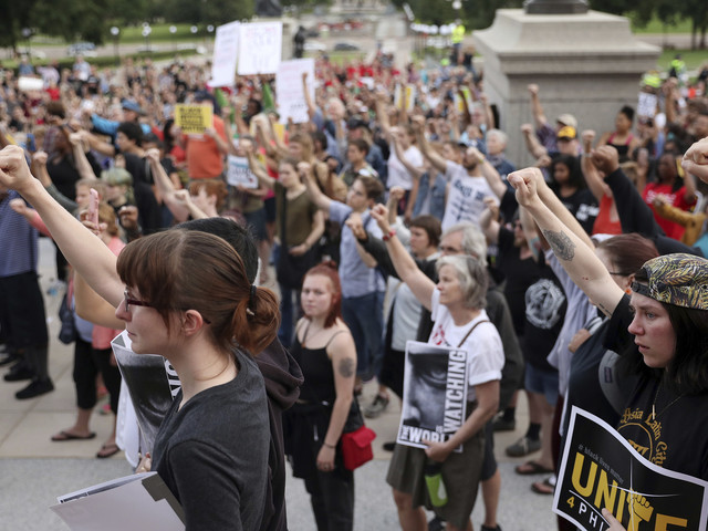 Thousands protest after Minnesota officer acquitted in death of Philando Castile
