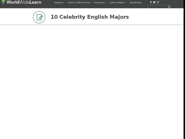 10 Celebrity English Majors