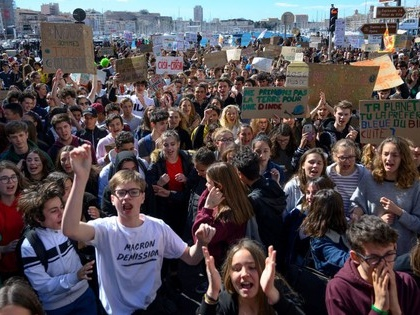 Young people take to the streets around the world in the #strike4climate