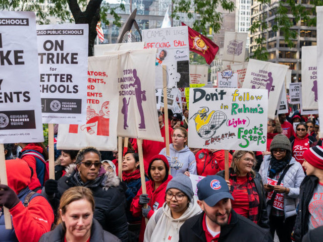 Chicago school teachers are illustrating why public employee unions should be illegal