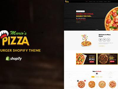 Marios Pizza | Pizza - Burger Restaurant Theme (Shopify)