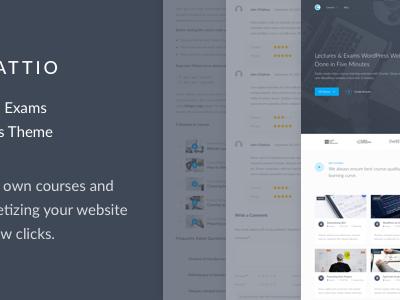 Educattio - Courses & Exams WordPress Theme (Education)