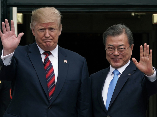 Trump to meet with South Korea leader after Pompeo pushes for talks with North