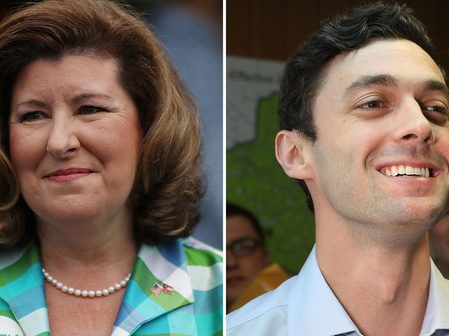 Early returns show tight race in Georgia as nation watches