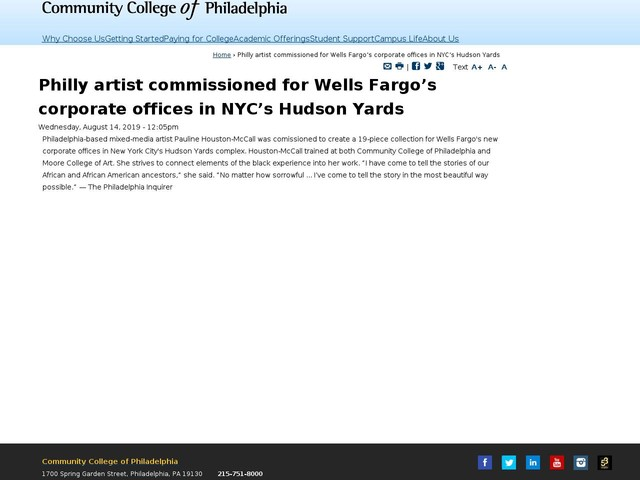 Philly artist commissioned for Wells Fargo's corporate offices in NYC's Hudson Yards