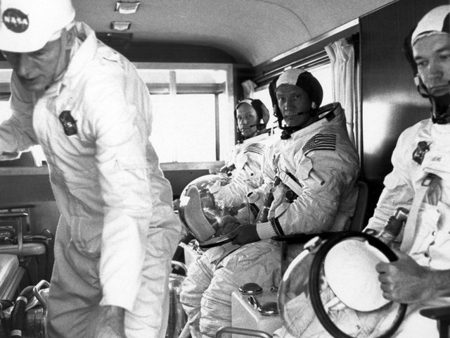 Listen: We made it! Neil Armstrong and Buzz Aldrin land on the moon