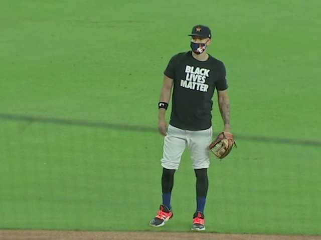 Astros spotted wearing Black Lives Matter T-shirts during Opening Day
