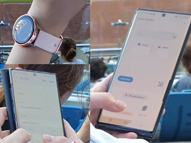 Possible Galaxy Watch Active 2 spotted in the wild alongside Galaxy Note 10+
