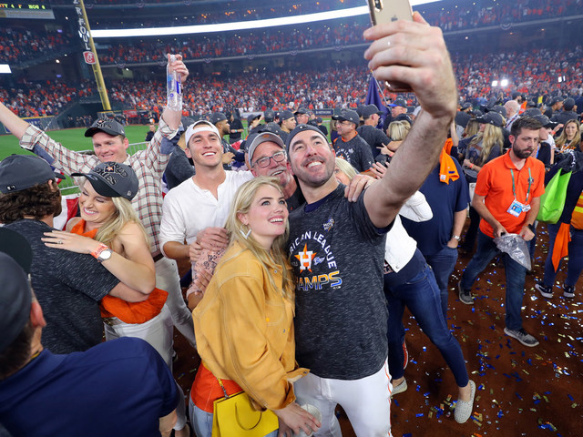 Kate Upton celebrates Justin Verlander going to World Series with Astros
