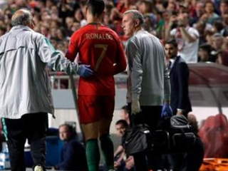 Ronaldo injured in Portugal's 1-1 draw against Serbia