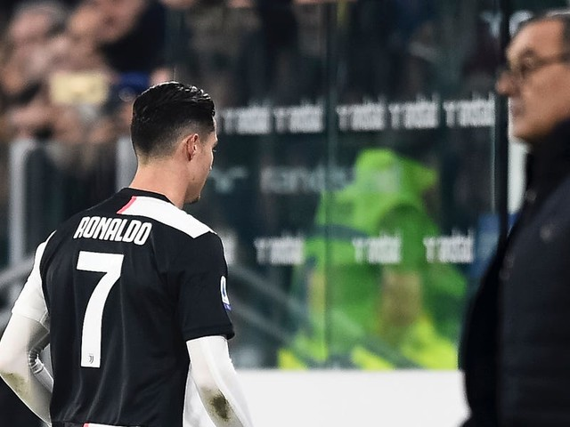 Cristiano Ronaldo was substituted again, appeared to sulk while he stormed off the pitch, and left the stadium before the match had even finished