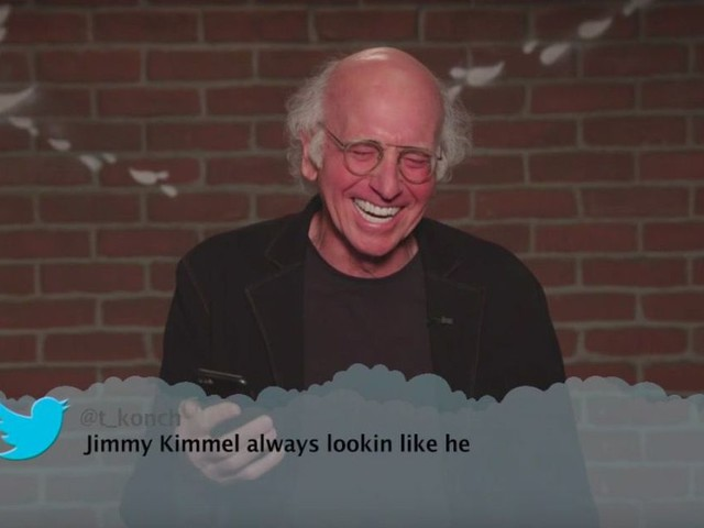 You need to watch Larry David's outtakes from Jimmy Kimmel's 'Mean Tweets'