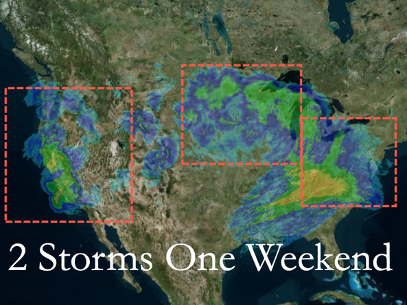 Two Storms One Weekend: 50 Million Under Winter Alerts As Travelers Return From Thanksgiving