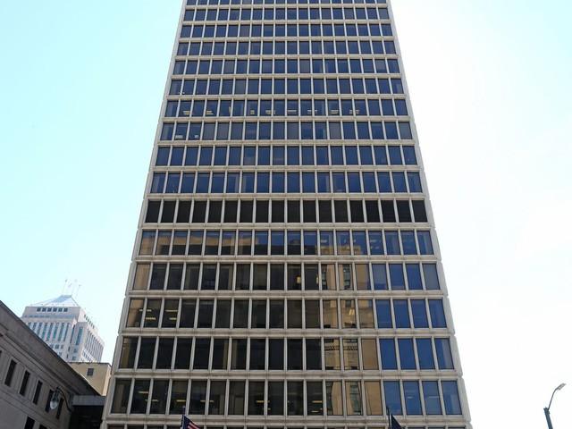 Skyscraper in Detroit's Financial District for sale