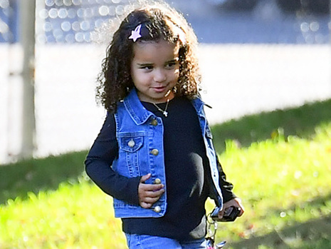 Dream Kardashian, 2, Rocks Pigtails While At The Pumpkin Patch With Blac Chyna & King Cairo, 7