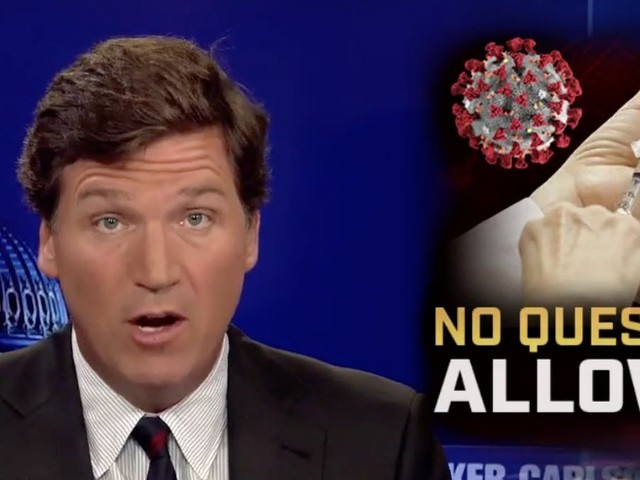 Tucker Carlson is publicly anti-vax—but he won't say if he got the shot