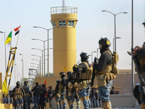 Iraqi Protesters Retreat From US Embassy In Baghdad