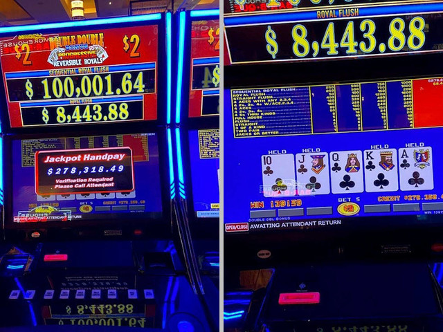 Local hits royal flush for $278K at off-strip casino