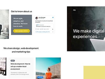 Joy - Minimal One Page Template (Portfolio)