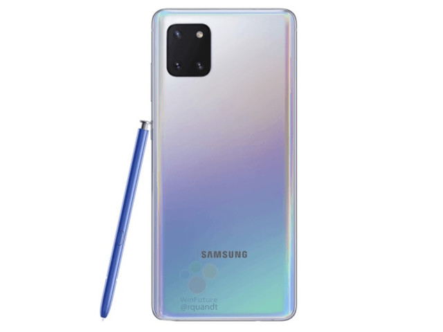Galaxy Note 10 Lite photos leak online, showing the phone powered on