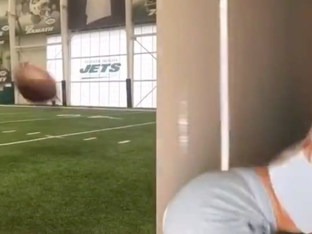 The New York Jets deleted a TikTok video where they made it look like a football flew out of a teenager's butt