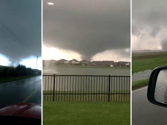 Tornado outbreak: Nurse escapes as twister closes in