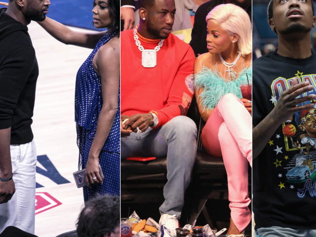 EVERYBODY WAS IN CHARLOTTE: Quavo Drops 27 Points In All-Star Celebrity Game + D. Wade & Gabby (And How She Dapped Up J.Cole), Meek Mill, Gucci & Keyshia, 2 Chainz & More Courtside + Michael Jordan's EPIC B'Day Bash