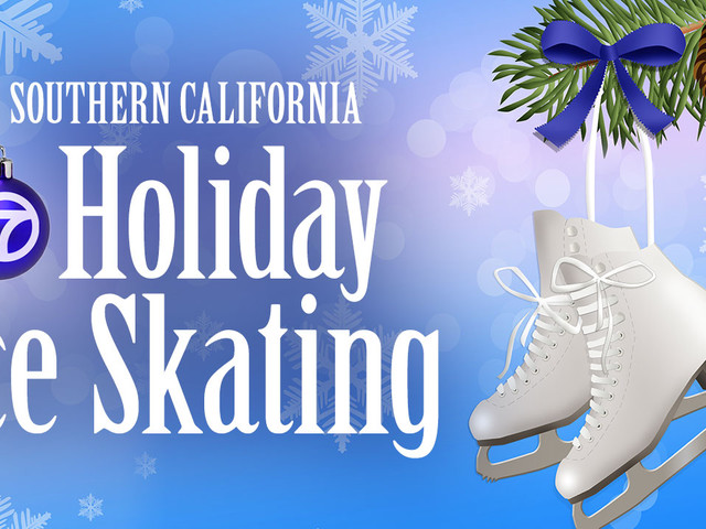 Holiday ice skating in Southern California