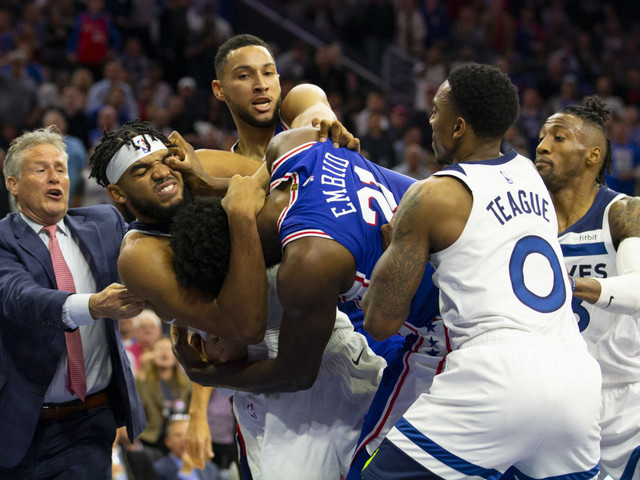Karl-Anthony Towns and Joel Embiid got into an ugly fight in the NBA's most high-profile brawl in years