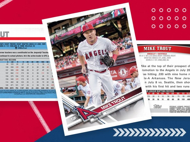What the backs of Mike Trout's baseball cards tell us