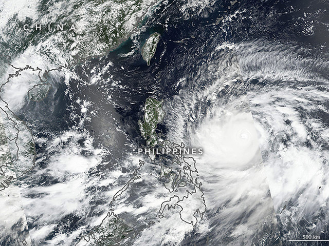 Typhoon Mangkhut Bears Down on the Philippines with 165-Mph Winds