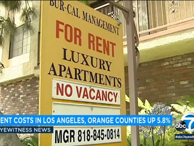 Rent prices increased 5.8 percent in Los Angeles and Orange counties in July