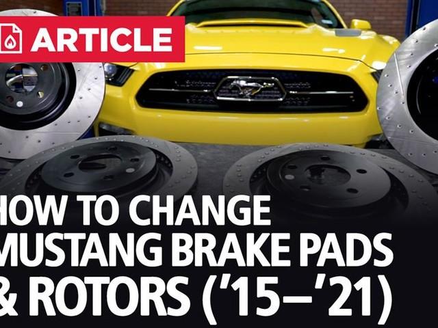 How To Change Mustang Brake Pads & Rotors | 15-21