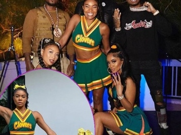 Gabby, Saweetie & Baby Kaavia Are 'Bring It On' Triplets For Gab's 'California Love' Halloween B'Day Bash + Too Short & E-40 Rock The Party
