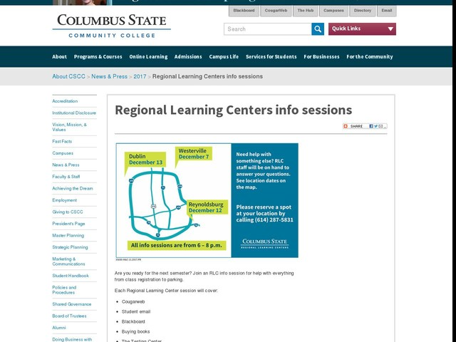 Regional Learning Centers info sessions