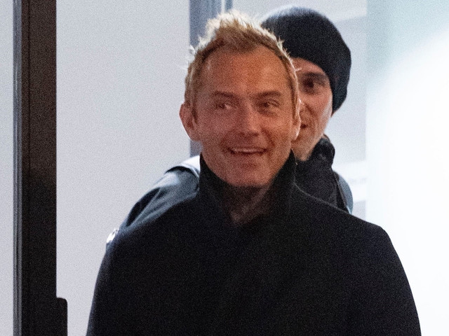 Jude Law is All Smiles While Leaving His Riff Raff Production Company Offices