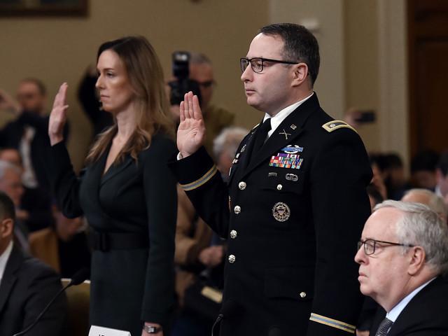 Lt. Col. Alexander Vindman testifies about Trump's 'improper' call with Ukraine