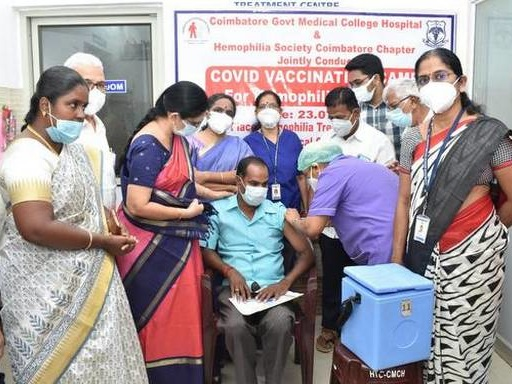Vaccination drive for haemophiliacs at CMCH