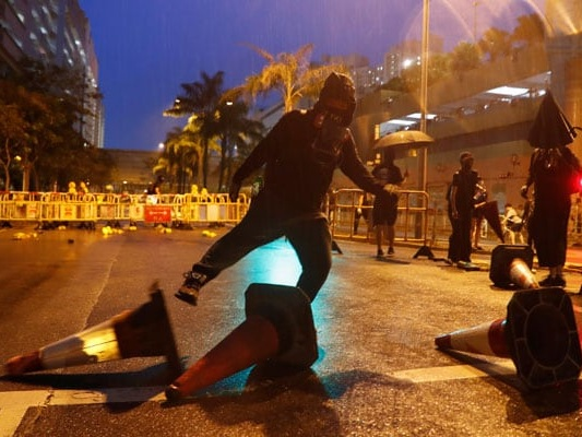 Hong Kong Police Fire Tear Gas At Protesters Armed With Petrol Bombs