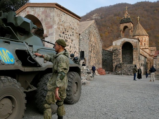 'We have agreed to maintain status quo': Putin says balance of power in disputed Karabakh must be upheld