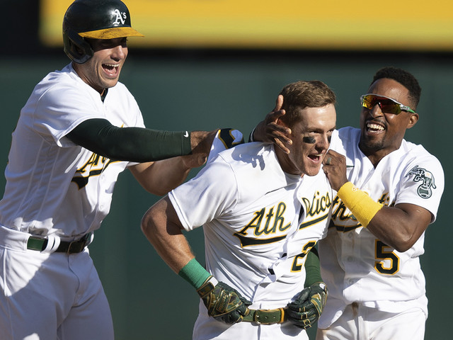 A's edge AL West-leading Astros again on walk-off hit in 9th