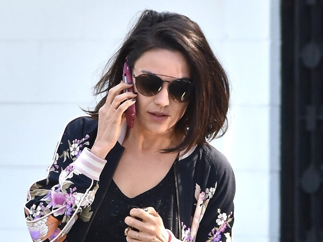 Mila Kunis Stops By the Salon to Freshen Up Her Hair