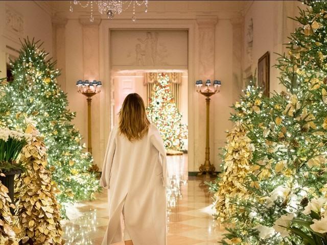 Melania Trump Christmas decorations mocked by media
