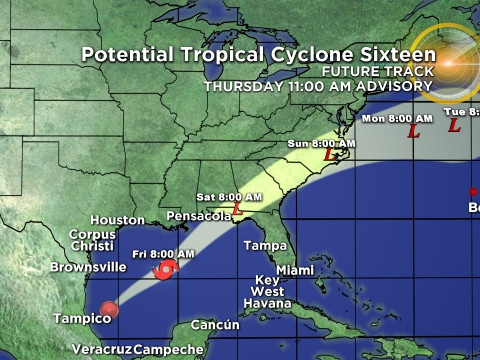 Disturbance In Gulf Forecast To Develop, Storm Watches, Warning Up For Florida's West Coast