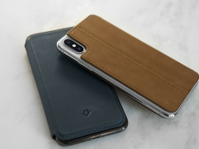 The SurfacePad is a sleek leather folio for the iPhone X
