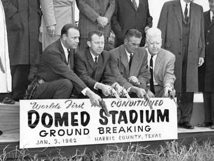 Never forget that the Astrodome's groundbreaking ceremony was DONE WITH GUNS