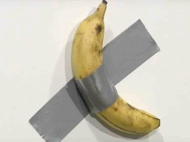 Banana duct-taped to wall fetches $120,000 at art show — and another is expected to sell for $150,000