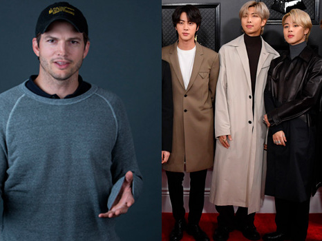 Ashton Kutcher Carries Jimin & Jin During Intense Game Of Hide & Seek With BTS: Twitter Freaks Out
