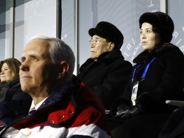 Mike Pence Was Seated a Little Too Close to Kim Jong-un's Sister for Comfort